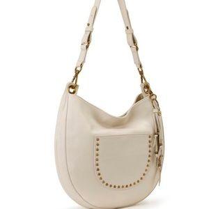 The Sak  Genuine Leather Ivory Hobo Bag NWT
